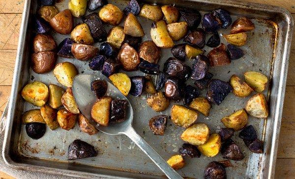 Purple and Brown Potatoes