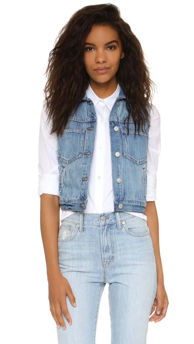 madewell shopbop jean vest